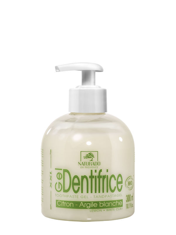 Gel dentifrice menthe citron naturado 300 ml