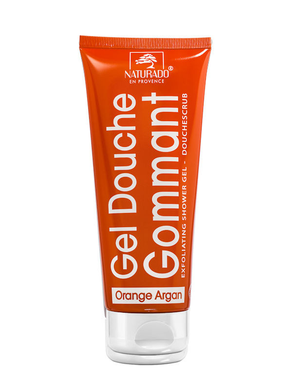 Gel douche gommant argan orange Naturado tube 200 ml