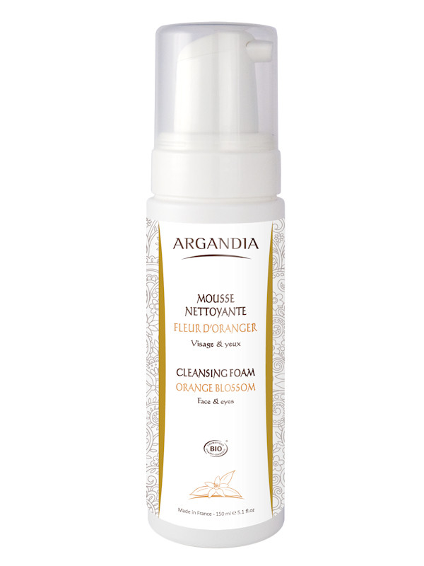 Mousse nettoyante fleur d'oranger Argandia 150 ml
