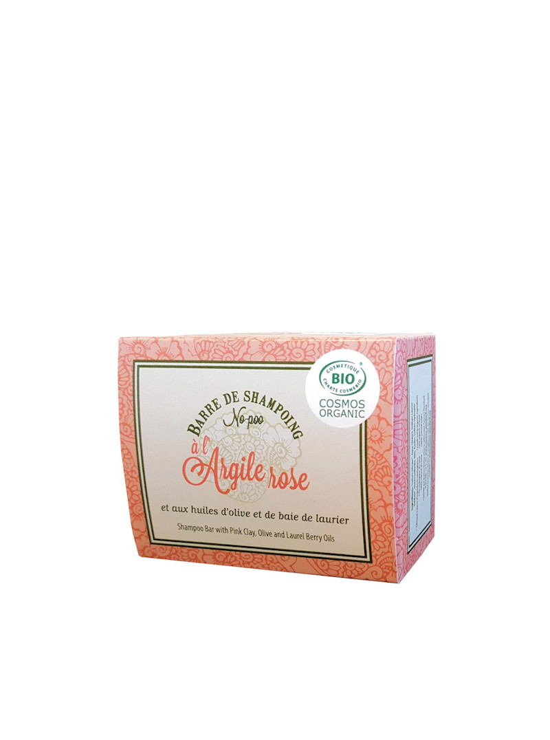 Barre de shampoing solide à l'argile rose Alepia