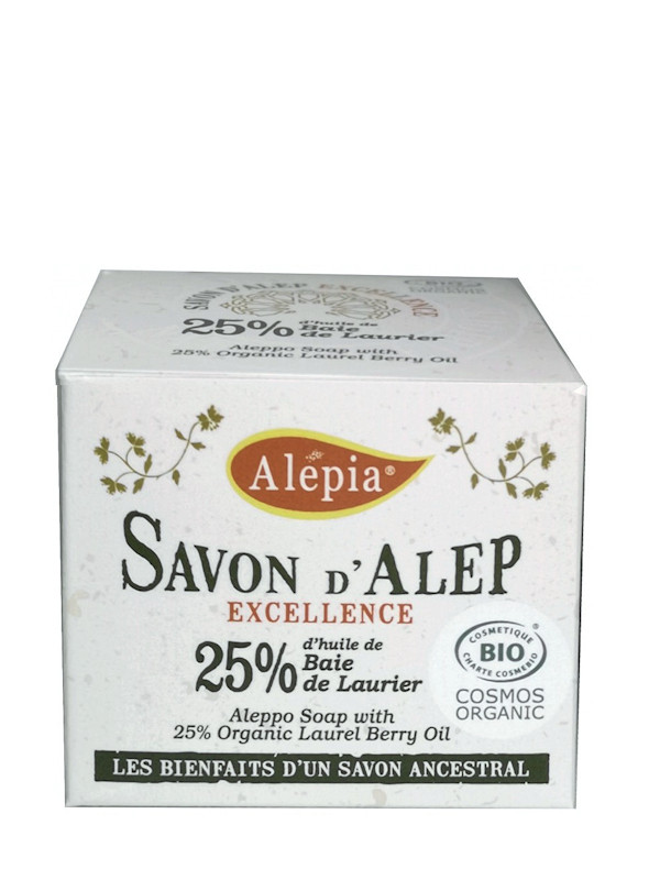 Savon d'Alep Excellence 25% laurier bio