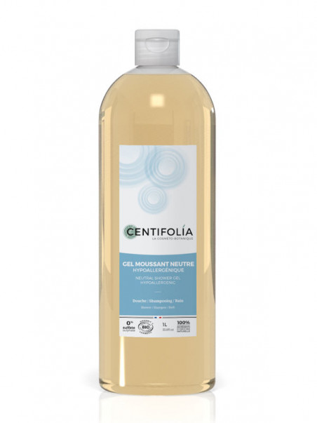 Gel moussant neutre Centifolia 1 litre