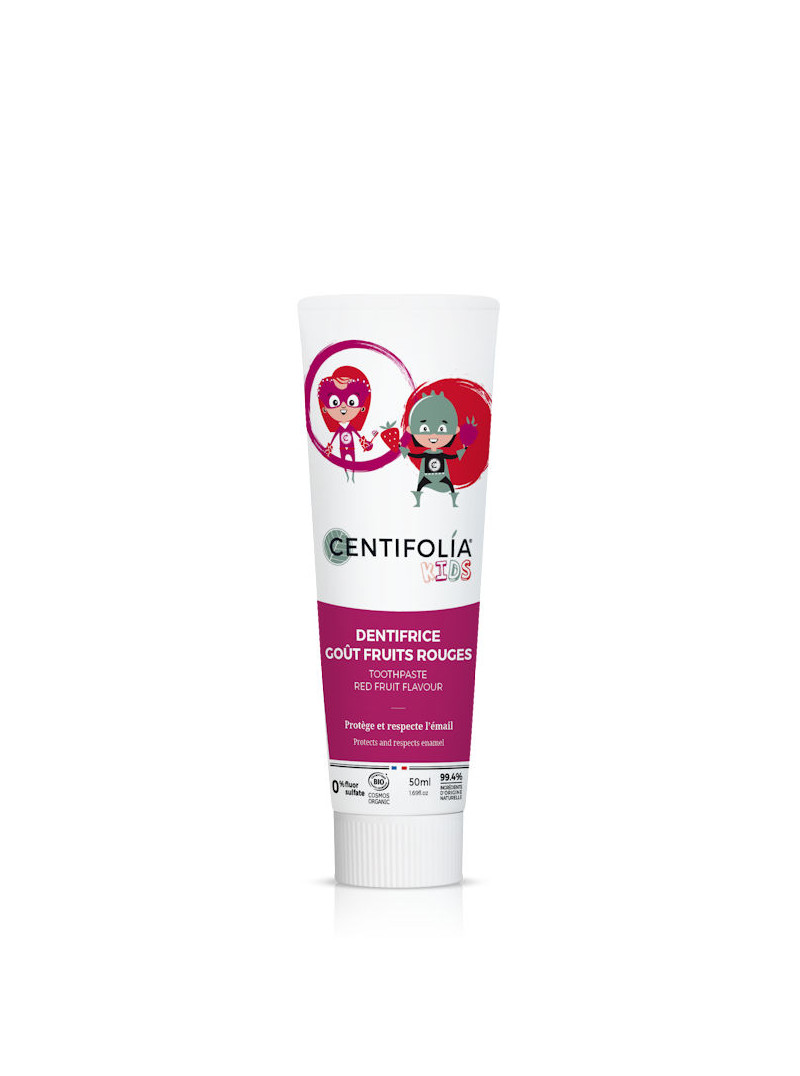 Dentifrice fruits rouges pour enfants Centifolia 50 ml