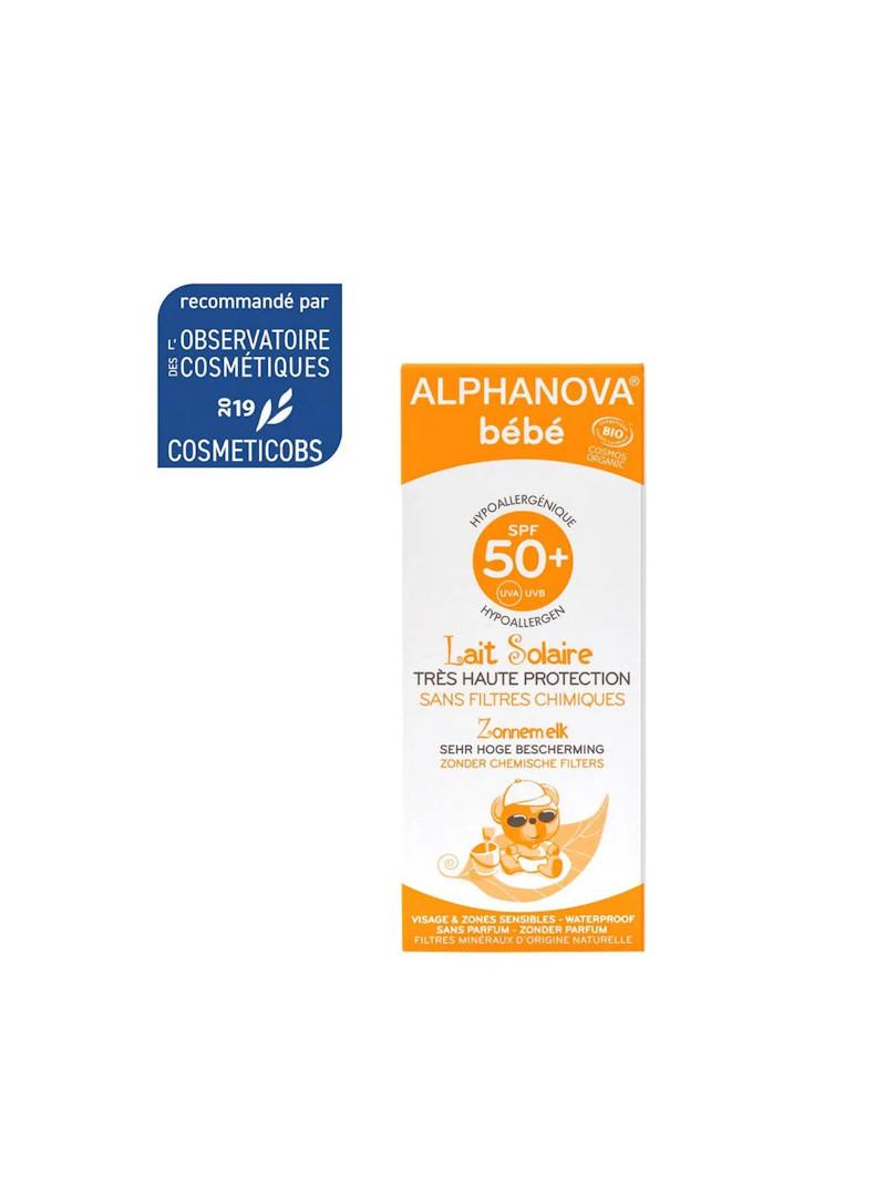 Lait solaire bébé Alphanova 50 spf
