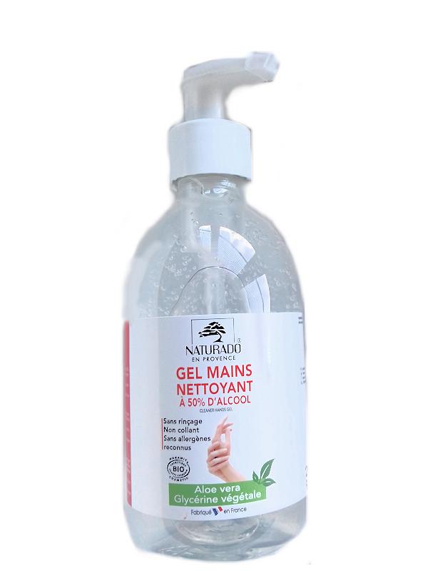Gel hydro alcoholique Naturado flacon pompe 290 ml