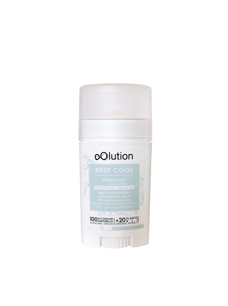 Keep Cool, deodorant solide Oolution sans parfum 30g