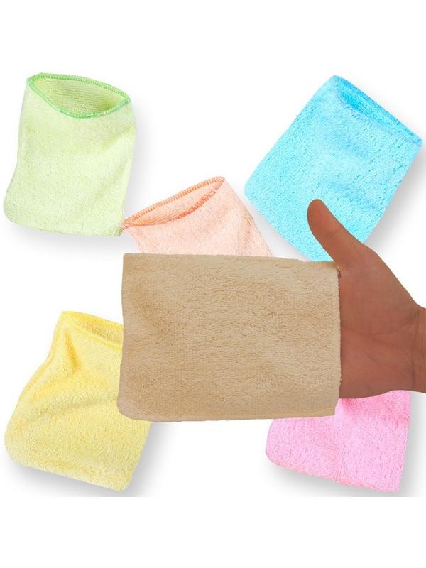 5 gants de change bambou couleur