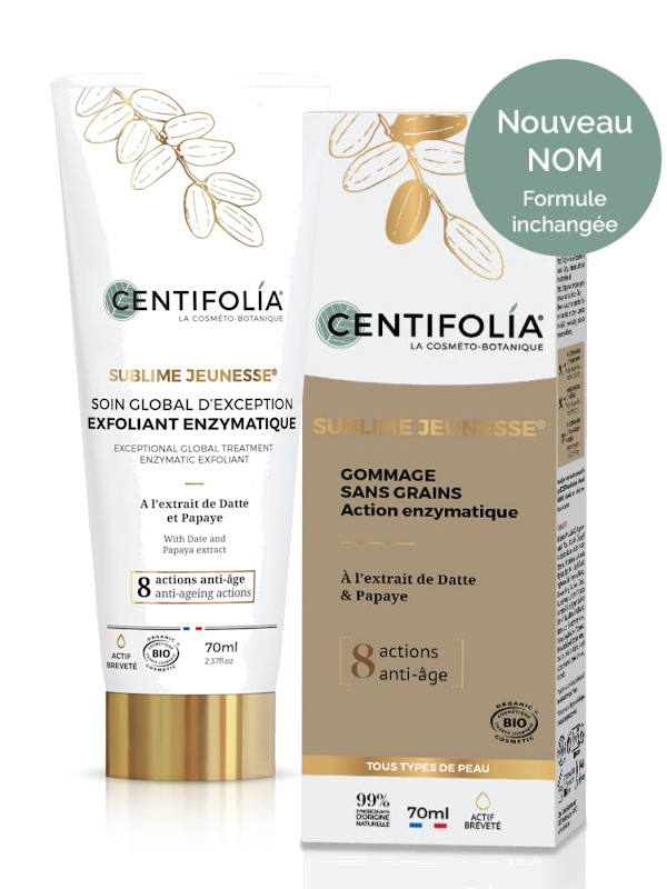 Gommage sans grains - exfoliant enzymatique Sublime Jeunesse Centifolia tube 70 ml