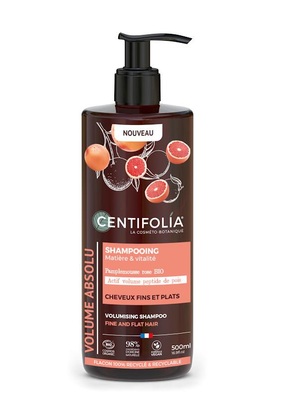 Shampoing volume à l'extrait de pamplemousse rose flacon pompe 500 ml Centifolia