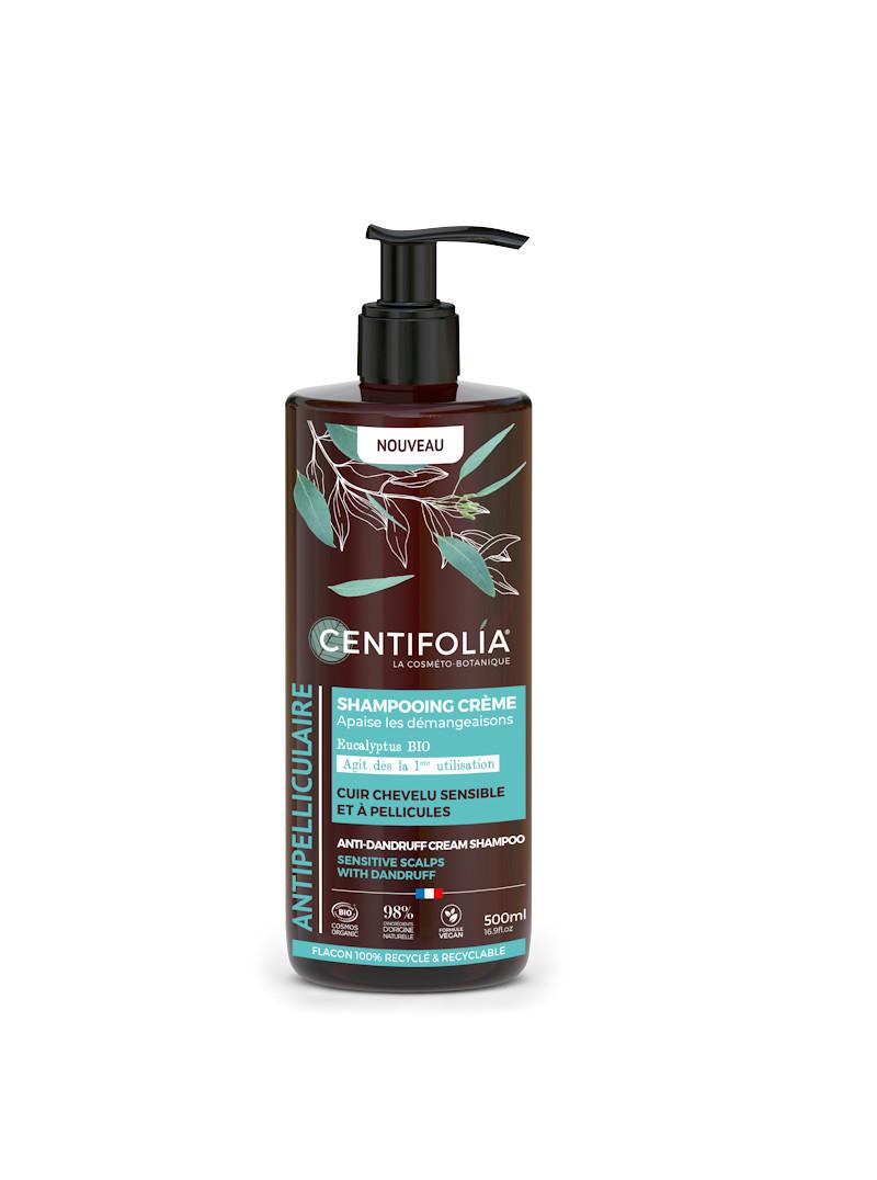 Shampoing antipellicules à l'eucalyptus et ziziphus flacon pompe 500 ml Centifolia